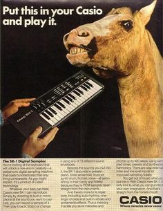 GIOR KONDUCTA - bloodrobots: noisenik: SK-1 LOVE #vintage #advertising #weird #synth #casio