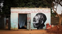 Senegals Amazone Warrior Women by YZ #africa #tribal #yz #women #senegal #art #painting #warrior