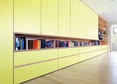 Spaces / Christian Woo Spaces - Garibaldi Highlands, Squamish #vancouver #yellow #design #books #wood #furniture