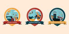 Wichita Location Badges #flat #vector #print #design #color #illustration
