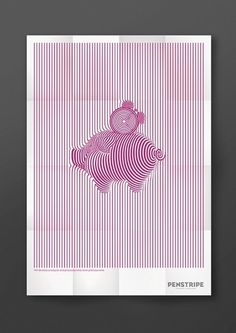 Piggy bank poster #lines #graphic #poster