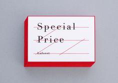 Special Price Laforet / Naonori Yago / 矢後直規 #card #print #business