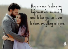 Hug day Quotes for Wife