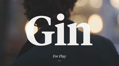 Gin. One of ten fragrances for men.