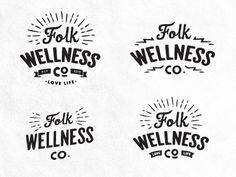 Dribbble - Folk Logo Concepts by Dustin Haver #comps #logos #vintage