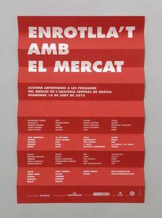 Enrotlla't amb el mercat -Enserio #paper #poster