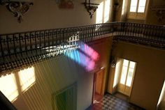 Textile in art installation by artist Gabriel Dawe