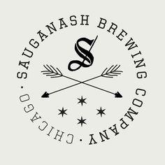 Sauganash Brewing Company Logo #brewery #beer #brewing