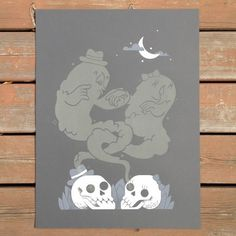 Dearly Departed - The Black Harbor #screen #print #halloween #ghost