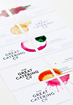 The Great Catering Company by Strategy Design and Advertising #illustration #logo #branding #identity #business card #watercolor