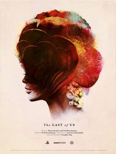 The Last of Us poster by Olly Moss #woman #playstation #of #artwork #vintage #poster #us #game #last