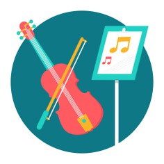 See more icon inspiration related to music, violin, orchestra, musical instrument, music and multimedia and string instrument on Flaticon.