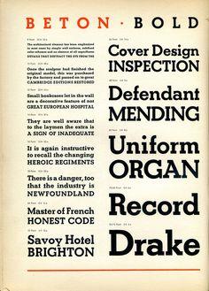 Beton Bold type specimen