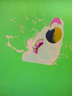 Chimes&Rhymes | innovative design and new techniques in visual artistry #pink #paint #splatter #green
