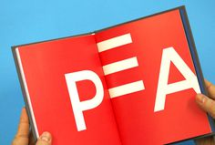 Peak by Proxy #colourful #typography #book #graphic design