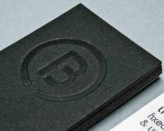 THE BEND on the Behance Network #business #card #santos #logo #henarejos #foil