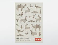 ZOO poster : Bobby Monroe #paperfold #origami #zoo #poster
