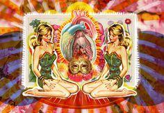 Lo Quiero | Peperina Magenta #creative #arte #amor #woman #color #pinup #digital #ilustraciã³n #vintage #ilustration #art #collage #colour #love #work