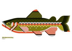 FFFFOUND! | Sage | Mint Design #fish #trout