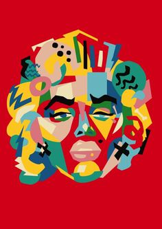 Famous headz - Marylin Monroe by Andy Gellenberg
