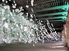 "Monika Grzymala, ""the river"" #paper #installation"