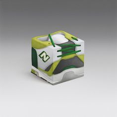 Sneakercube on the Behance Network #geometry #cube #geometric #sneakers #art #green