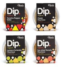 Clive's Organic Dips : Lovely Package® . Curating the very best packaging design. #packaging #in #design #bold #black #food #believe #grid #typography