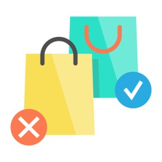 See more icon inspiration related to bag, shopper, supermarket, shopping bag, shopping, commerce, commerce and shopping and business on Flaticon.