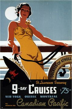 Tom Purvis for Canadian Pacific #travel #advertising #illustration #vintage #poster #canadian