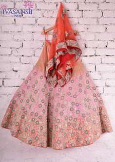 Vasansi Pink Raw Silk Bridal Lehenga