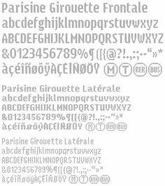 Parisine Girouette Specimen #type #design #pixel
