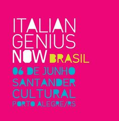 Design italiano no Santander Cultural | Italian Genius Now #expo #italian #design #poster