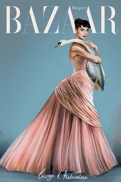 George Vantoniou's Gorgeous Audrey Hepburn Illustrations #illustration