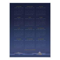 Mid Century 2014 Calendar Poster