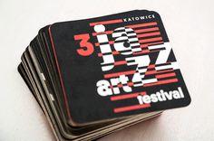 3 Jazz Art Festival Katowice #jazz #print #coaster #typography