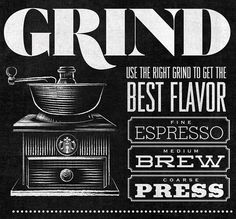 Starbucks - Home Brew by Jaymie McAmmond #typography