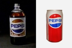 Figure 3.1 Two versions of the Pepsi logo that could be found in 1985. Image Sources: 1985 Pepsi TV Commercial (Left) and CanPedia (Right)