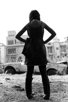 www.infectedgallery.com #lady #girl #standing #back view
