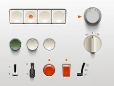 Dribbble - Braun UI (.psd) by Adrien Olczak #braun #rams #slider #dieter #buttons