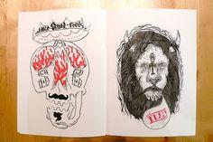 Anoik #illustration #skull #lion #fanzine #heymikel #anoik