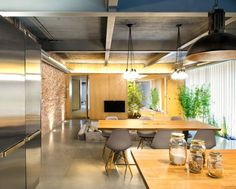 Industrial Loft Space With Fresh Green Decor -#decor, #interior, #homedecor,
