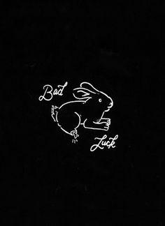 W E L L ※ F E D #drawn #minimal #logo #rabbit #hand