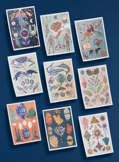 null #print #cards #organic #illustration