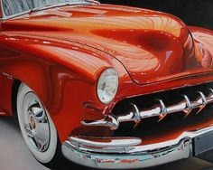 Realistic Old Polished Cars Paintings -7 #painting #car #art #realistic