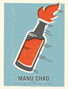 GigPosters.com - Manu Chao #simple #screen #print #gigposter