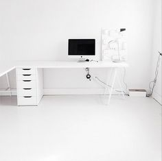 Minimal Workspace #home office #workspace #desk
