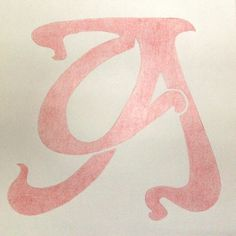 A is for Art Nouveau | Flickr - Photo Sharing! #typography #monogram #capital #art nouveau