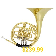 SLADE #Flat #Four-button #Split #Type #Round #Horn #Brass #Large #Bell #Mouth #Detachable #Perfect #French #Horn