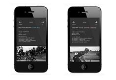 Tour Of Britain App / Interface #cycling #interface #ui #tour of britain #wiggins