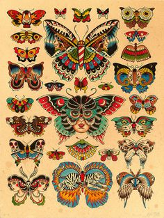 Lots of butterflies.Kyler Martz18 #butterfly #print #illustration